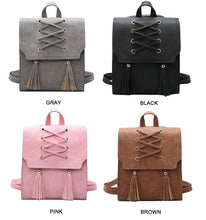 A-SHU BROWN TASSEL BACKPACK / RUCKSACK - A-SHU.CO.UK