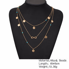 DAINTY TURQUOISE STONE MULTI-LAYER GOLD NECKLACE