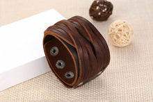 A-SHU BROWN GENUINE LEATHER WOVEN CUFF BRACELET - A-SHU.CO.UK