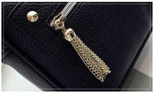 A-SHU GREY CROSS-BODY BAG / SMALL SHOULDER HANDBAG WITH TASSEL DESIGN - A-SHU.CO.UK