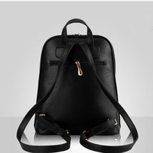 WHITE BELTED DESIGN MULTI-COMPARTMENT SLIM BACKPACK