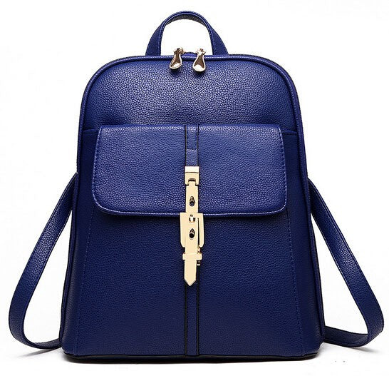 A-SHU BLUE BELTED DESIGN MULTI-COMPARTMENT SLIM BACKPACK - A-SHU.CO.UK