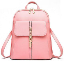 A-SHU LIGHT PINK BELTED DESIGN MULTI-COMPARTMENT SLIM BACKPACK - A-SHU.CO.UK