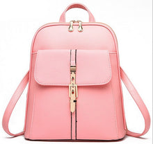 A-SHU WHITE BELTED DESIGN MULTI-COMPARTMENT SLIM BACKPACK - A-SHU.CO.UK