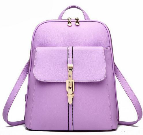 A-SHU LILAC BELTED DESIGN MULTI-COMPARTMENT SLIM BACKPACK - A-SHU.CO.UK