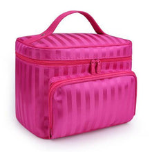 A-SHU LARGE RED HOLOGRAM COSMETIC MAKE UP BAG ORGANISER / TOILETRY TRAVEL BAG - A-SHU.CO.UK