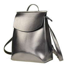 PLAIN BEIGE SMART FAUX LEATHER EFFECT BACKPACK / RUCKSACK