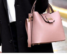 A-SHU SMALL PINK HOLDALL HANDBAG WITH LONG SHOULDER STRAP - A-SHU.CO.UK