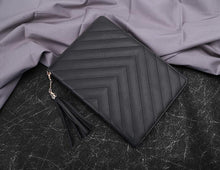 A-SHU BLACK TASSEL DESIGN SMART TABLET CASE FOR APPLE IPAD MINI 1 2 3 OR APPLE IPAD AIR 1 2 - A-SHU.CO.UK
