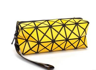 A-SHU RED GEOMETRIC FOLDING COSMETIC MAKE-UP BAG - A-SHU.CO.UK