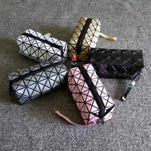 A-SHU GOLD GEOMETRIC FOLDING COSMETIC MAKE-UP BAG - A-SHU.CO.UK