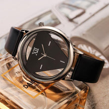 A-SHU HOLLOW QUARTZ LEATHER STRAP WRIST WATCH - BLACK FADE - A-SHU.CO.UK