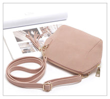 A-SHU SMALL BEIGE FAUX SUEDE CROSS-BODY TASSEL BAG - A-SHU.CO.UK