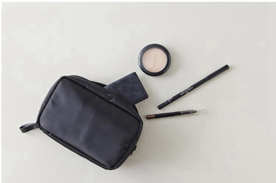 A-SHU SMALL BLACK TRAVEL COSMETIC / MAKE UP BAG - A-SHU.CO.UK