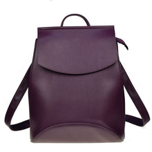 A-SHU PLAIN BEIGE SMART FAUX LEATHER EFFECT BACKPACK / RUCKSACK - A-SHU.CO.UK