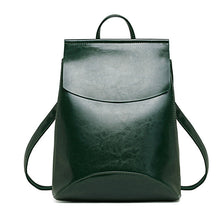 PLAIN PALE GREY SMART FAUX LEATHER EFFECT BACKPACK / RUCKSACK