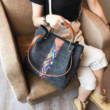 A-SHU BLACK HOLDALL HANDBAG WITH SMALL CROSS-BODY BAG - A-SHU.CO.UK