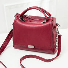 RED MULTI-COMPARTMENT HOLDALL HANDBAG WITH LONG SHOULDER STRAP