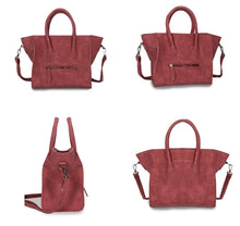 A-SHU HANDBAG WITH BAT WINGS AND LONG SHOULDER STRAP - RED - A-SHU.CO.UK