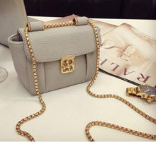 SMALL GREY DESIGNER STYLE CROSS-BODY BAG WITH CHAIN STRAP