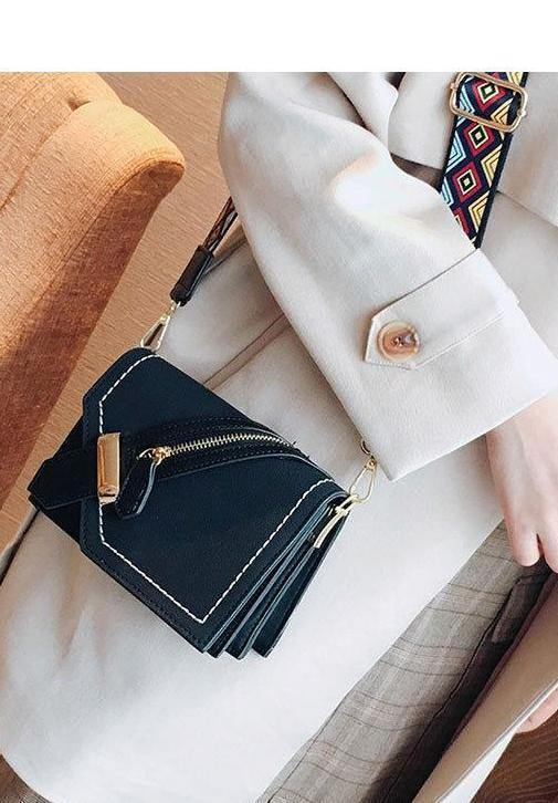 3826f0a88 ... A-SHU BLACK FAUX SUEDE DESIGNER STYLE CROSS-BODY SHOULDER BAG WITH  COLOURFUL STRAP ...