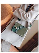 A-SHU GREY FAUX SUEDE DESIGNER STYLE CROSS-BODY SHOULDER BAG WITH COLOURFUL STRAP - A-SHU.CO.UK