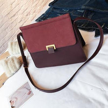 MAROON MULTI-COMPARTMENT FAUX SUEDE CROSS-BODY SHOULDER BAG