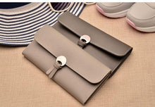 A-SHU LARGE TAUPE GREY MULTI-COMPARTMENT PURSE WALLET - A-SHU.CO.UK