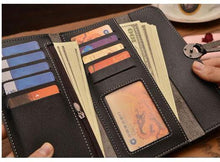 LARGE NAVY BLUE MULTI-COMPARTMENT PURSE WALLET