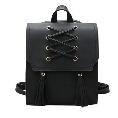 A-SHU BLACK TASSEL BACKPACK / RUCKSACK - A-SHU.CO.UK
