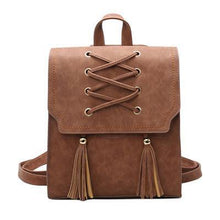 A-SHU GREY TASSEL BACKPACK / RUCKSACK - A-SHU.CO.UK