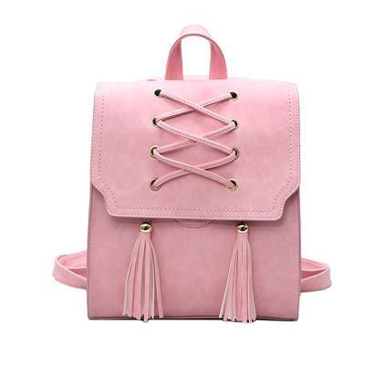 A-SHU PINK TASSEL BACKPACK / RUCKSACK - A-SHU.CO.UK