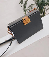 A-SHU BLACK FAUX LEATHER HARDBACK CROSS-BODY SHOULDER HANDBAG WITH TOP FLAP - A-SHU.CO.UK