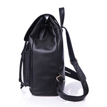 SMART WHITE FAUX LEATHER EFFECT BACKPACK / RUCKSACK