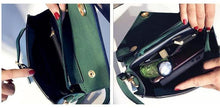 A-SHU GREEN STRUCTURED ENVELOPE HOLDALL HANDBAG WITH LONG STRAP - A-SHU.CO.UK