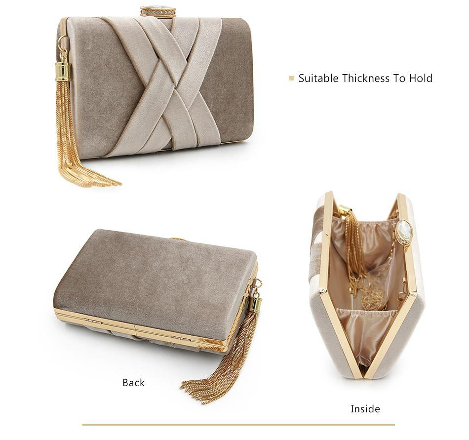 A-SHU BEIGE FAUX SUEDE HARDBACK CLUTCH BAG WITH CRISS-CROSS DESIGN - A-SHU.CO.UK