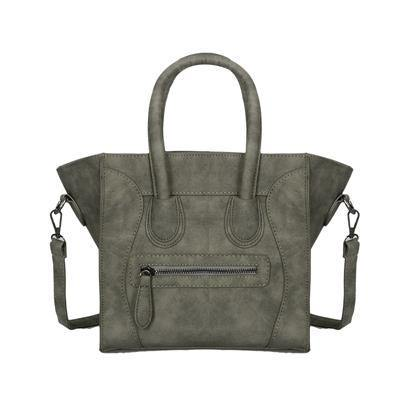 A-SHU HANDBAG WITH BAT WINGS AND LONG SHOULDER STRAP - GREY - A-SHU.CO.UK