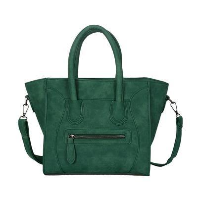 A-SHU HANDBAG WITH BAT WINGS AND LONG SHOULDER STRAP - GREEN - A-SHU.CO.UK