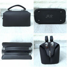 A-SHU BLACK FAUX LEATHER DOCTOR STYLE HOLDALL HANDBAG - A-SHU.CO.UK