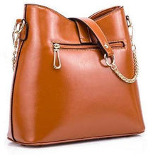 TAN DESIGNER STYLE HANDBAG WITH SHORT AND LONG STRAPS