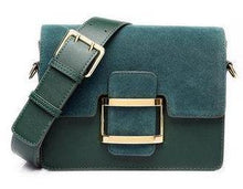 A-SHU TAN FAUX SUEDE CROSS-BODY BAG WITH WIDE SHOULDER STRAP - A-SHU.CO.UK