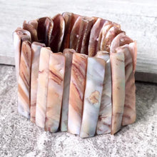 A-SHU ABALONE SHIMMERING SEA SHELL WIDE CUFF BEACH BRACELET - A-SHU.CO.UK