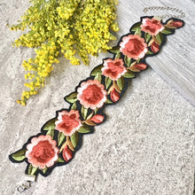 A-SHU EMBROIDERED FLORAL FABRIC COLLAR CHOKER NECKLACE - A-SHU.CO.UK