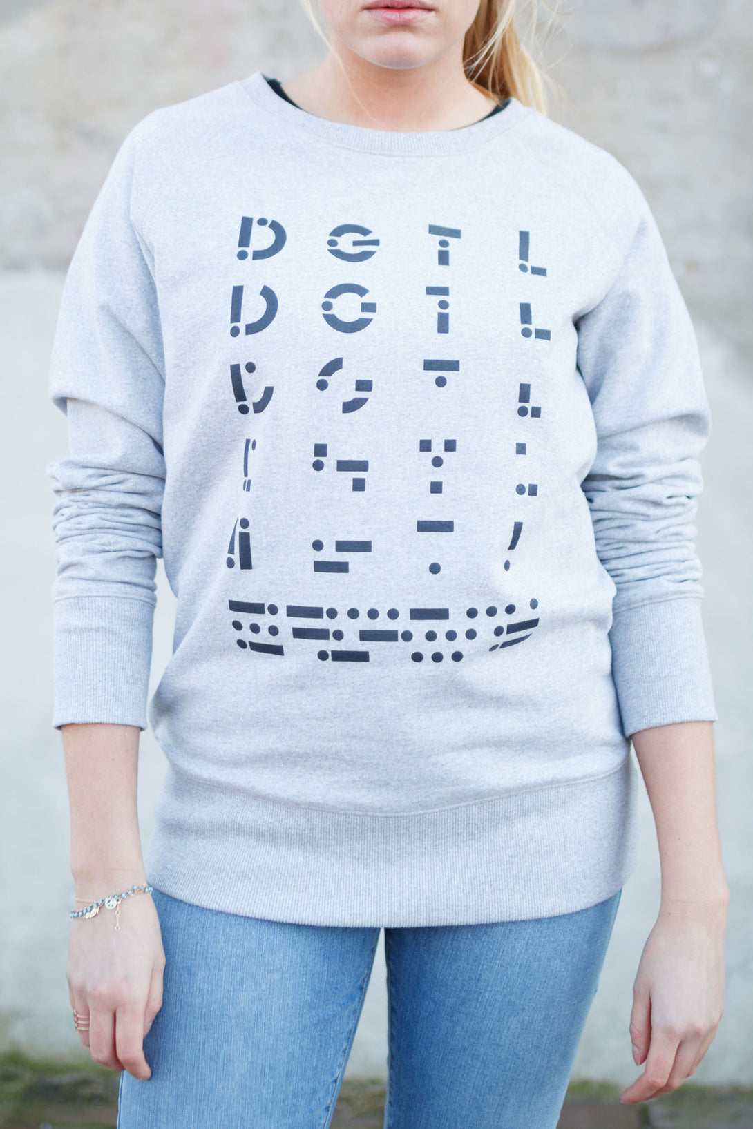 Sweater unisex grey