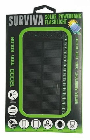 Surviva Solar Power Bank 12,000 MAh-lights-Adventure Playground