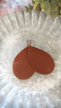 Leather Teardrop Honey Tan, Olive, Black, Nude Hand Cut Ultra Light Premium Leather Drop Earrings by MyBella