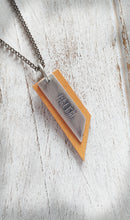 Mustard Yellow Leather & Metal Faith EO Essential Oil Diffuser Pendant Necklace by MyBella
