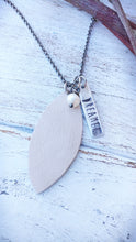 Blush Pink Essential Oil Diffuser Necklace Custom Hand Cut Lightweight Leather by MyBella