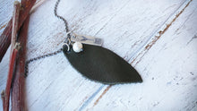 Dark Olive Green Essential Oil Diffuser Necklace Custom Hand Cut Lightweight Leather by MyBella