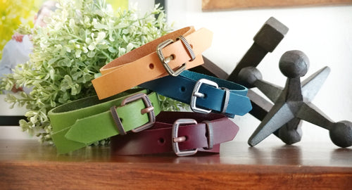 Belted Double Wrap Belt Buckle Leather Cuff Bracelet In Your Choice of Leather Finish Colors by MyBella